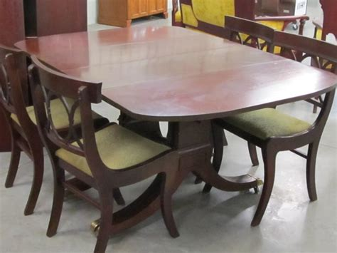 Tell City Dining Room Set Value Tell City Dining Room Table With Duncan Phyfe Style Legs And
