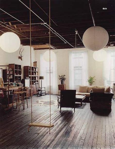 Agréable Chaise Bois Blanche #3: Idée-créative-décoration-avec-la-balançoire-salon-vast.jpg