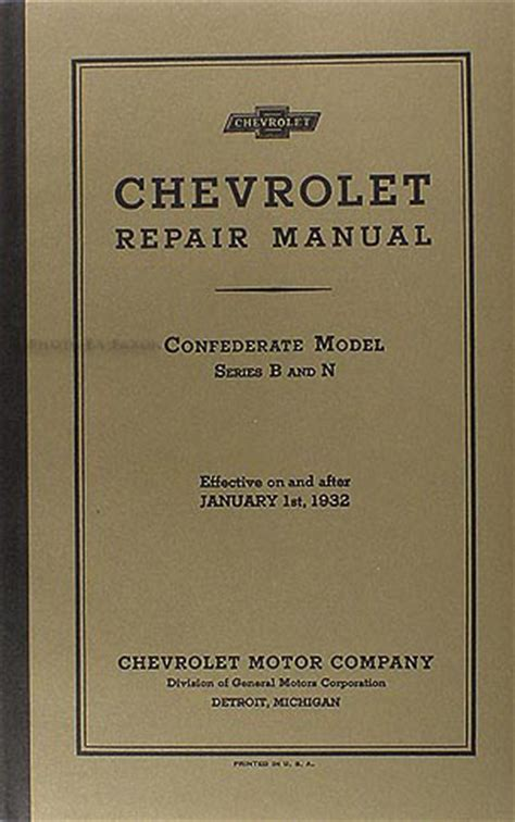 service repair manual free download 1994 chevrolet s10 lane departure warning 1932 chevrolet repair shop manual reprint car pickup truck