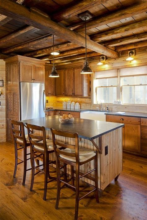 kitchen cabin log cabin kitchen for the home pinterest