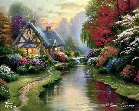 Home Living Cottages Of Love A Tribute To Thomas Kinkade Kinkade Cottages