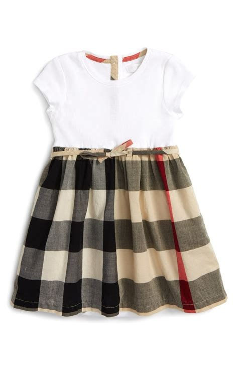 design little clothes burberry mini rosey check cotton dress baby girls