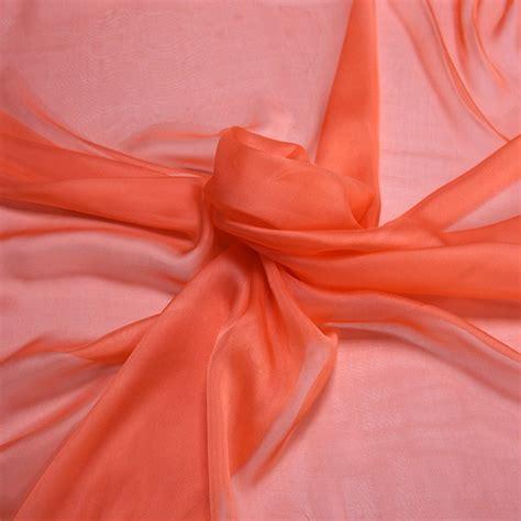 coral silk color coral pink silk chiffon fabric bodikian textiles