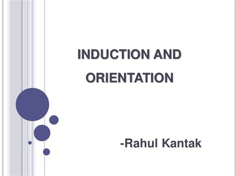 what is induction orientation induction and orientation