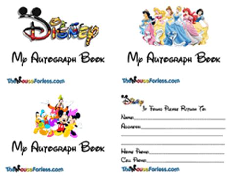 Homemade Disney Autograph Books For You To Customize Autograph Card Template