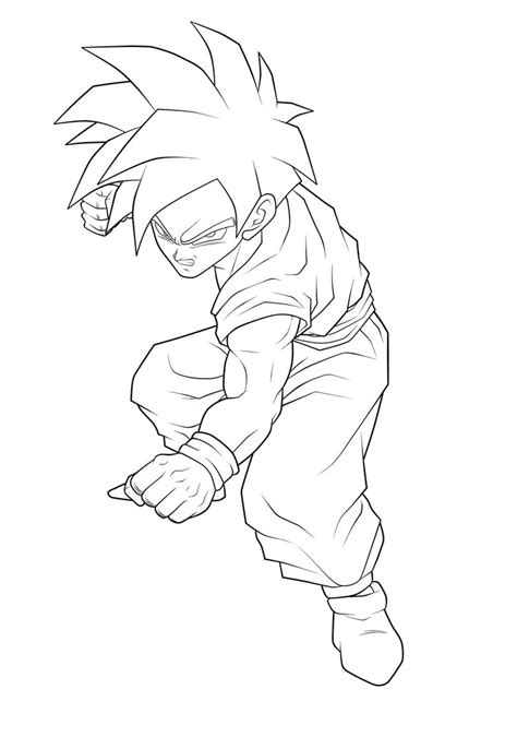Free Coloring Pages Of 10 Super Saiyan Gohan Coloring Pages