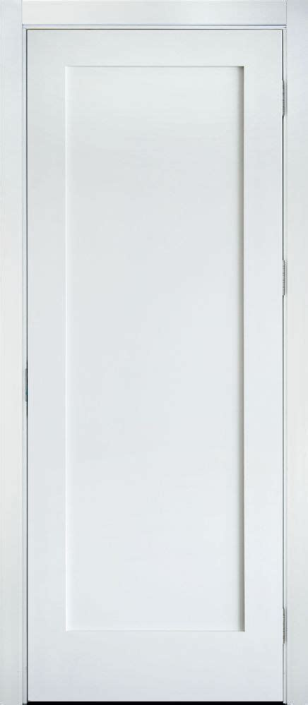 Barn Interior Doors Primed White Solid Core 1 Panel Shaker Mission Style