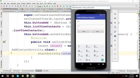 tutorial android crud android tutorial sqlite crud part 1 youtube