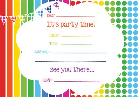 printable birthday party invitation cards free printable birthday invitations online bagvania free