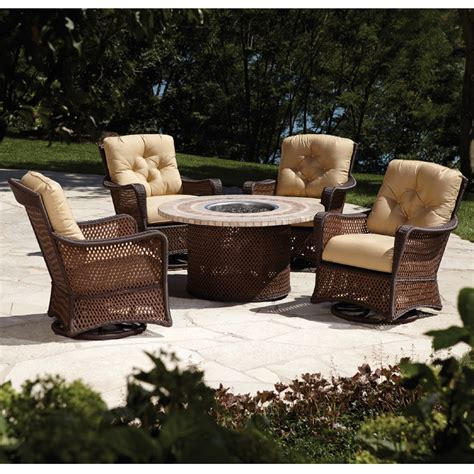 firepit set lloyd flanders grand traverse pit patio set