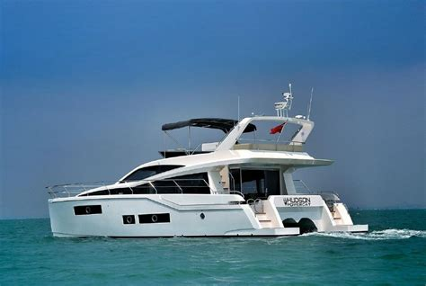 catamaran power boats for sale used 2015 used hudson power catamaran boat for sale