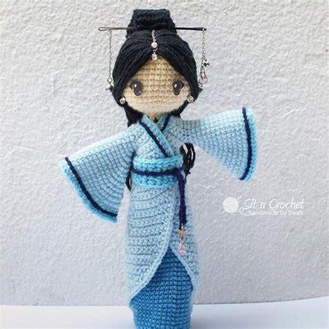 kimono doll pattern free amigurumi japanese girl doll in a kimono inspiration
