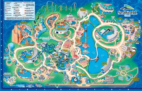 seaworld orlando map seaworld orlando theme park map orlando fl mappery