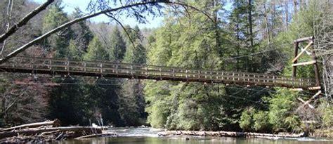 the swinging bridge swinging bridge toccoa river toccoa river hiking