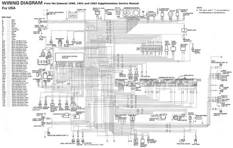 suzuki sidekick wiring diagram suzuki samurai 1990 1992 complete electrical wiring diagram usa all about wiring diagrams