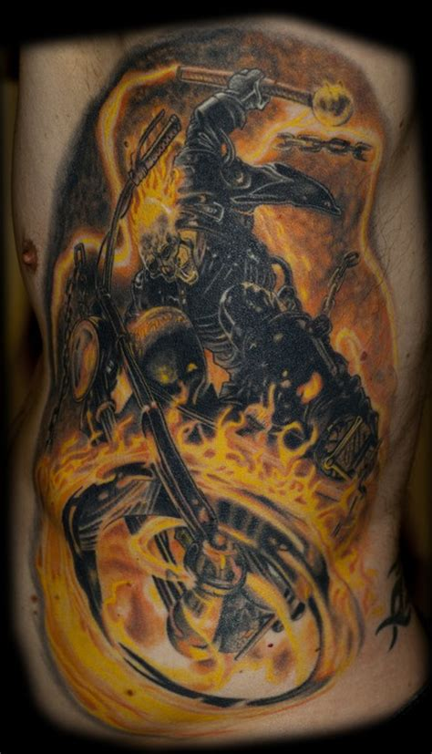 ghost rider tattoo designs outlaw tattoos skull