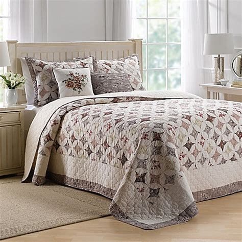 coverlets canada nostalgia home lily bedspread in beige bed bath beyond