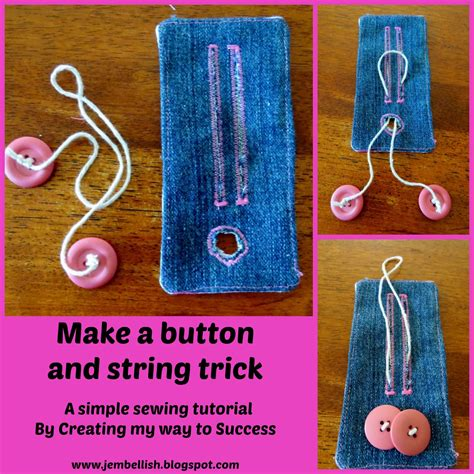A Simple Trick To Make - creating my way to success make a button and string card