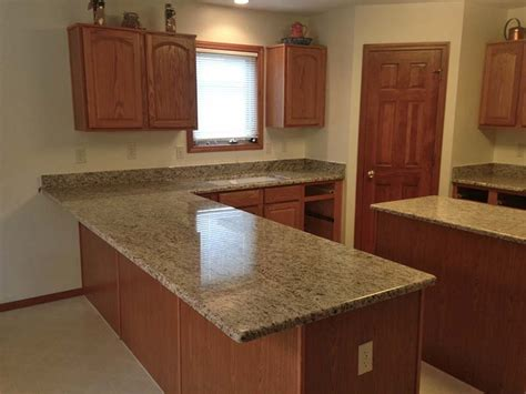 Colors For A Kitchen With Oak Cabinets Giallo Ornamental Granite Granite Details Projects