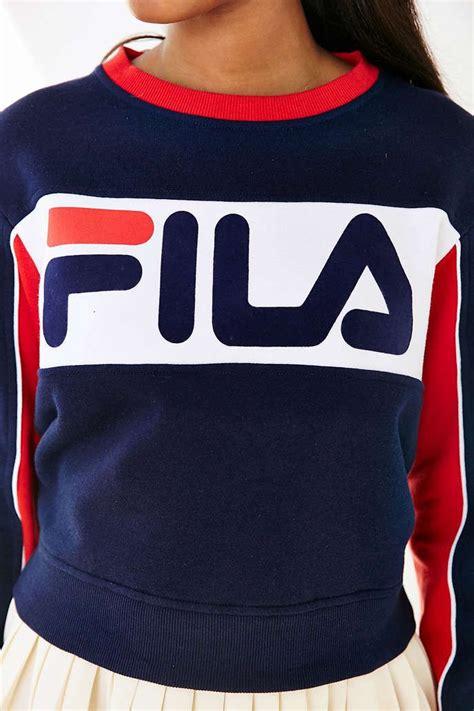 Jaket Fila Hoodie Jumper fila uo colorblock sweatshirt outfitters