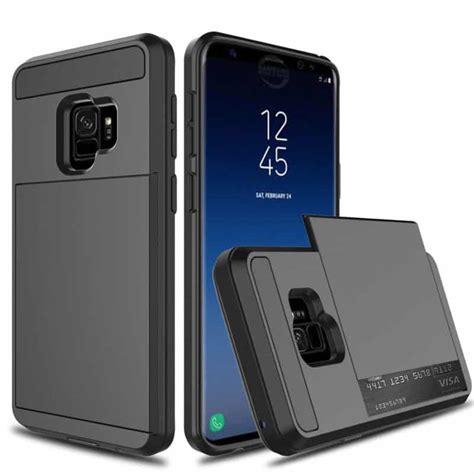 Casing Samsung Galaxy S9 S 9 Plus 2018 Flip Mirror Auto Lock samsung galaxy s9 plus credit card black gorilla cases