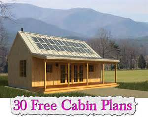 Green Home Plans Free 30 Free Cabin Plans