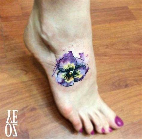 watercolor tattoo violets 125 most popular foot tattoos for