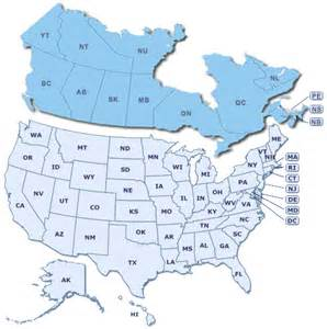us and canada map with states and provinces text nerds text marketing website design