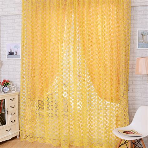 rose colored sheer curtains 4 color flower window curtains rose sheer door room