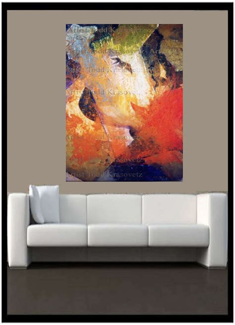 sofa paintings contemporary art 2 l above sofa by artist todd krasovetz
