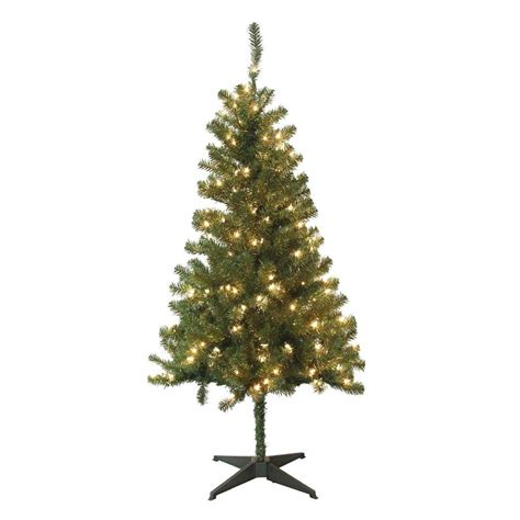 home depot alexandria pine tree upc 685024222050 home accents ornaments decor 5 ft pre lit wood trail pine