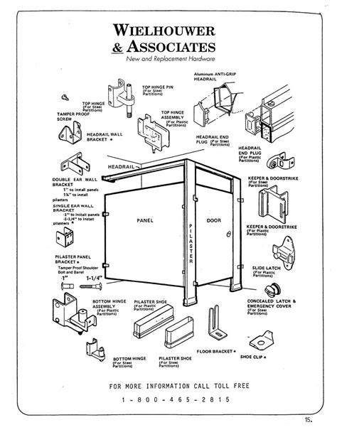 bathroom partitions hardware toilet partitions parts identification diagram toilet partition hardware from