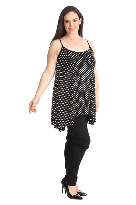 plus size swing tops womens plus size top ladies swing cami tank top polka dot