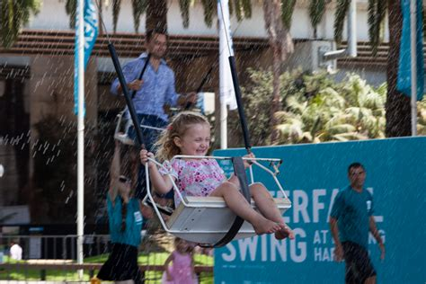 swing village com sydney festival waterfall swing festival village the