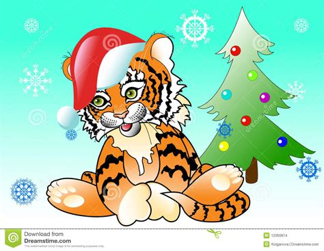 tiger new year tiger new year tree stock images image 12060814