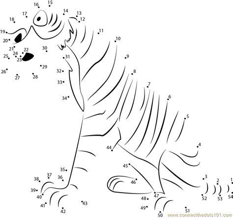 printable tiger dot to dot shere khan the tiger dot to dot printable worksheet