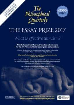 Altruism Essay by Ceppa Philosophical Quarterly Essay Prize