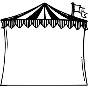 Circus Tent Frame Clipart Cliparts Of Free Download  sketch template