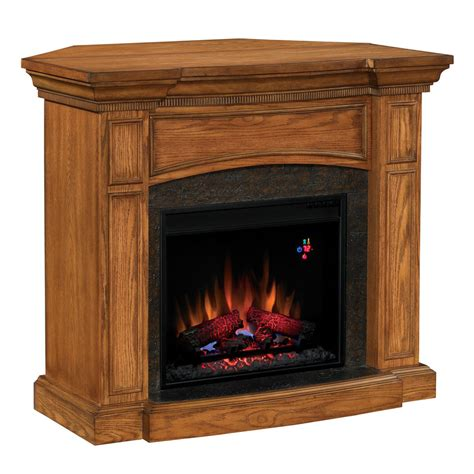 Lowes Corner Fireplace by Shop Chimney Free 44 Quot Premium Oak Corner Or Wall Mount
