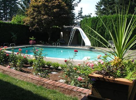 in ground pool ideas landscaping ideas for inground swimming pools pool