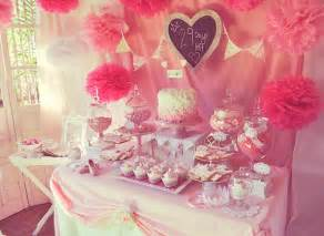 pink fairytale baby shower or birthday ideas via