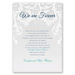 wedding vow template we are forever vow renewal invitation invitations by