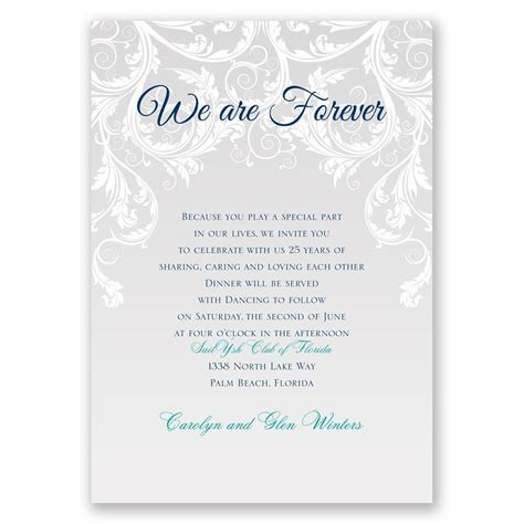Wedding Vows Sle by Vow Template We Are Forever Vow Renewal Invitation
