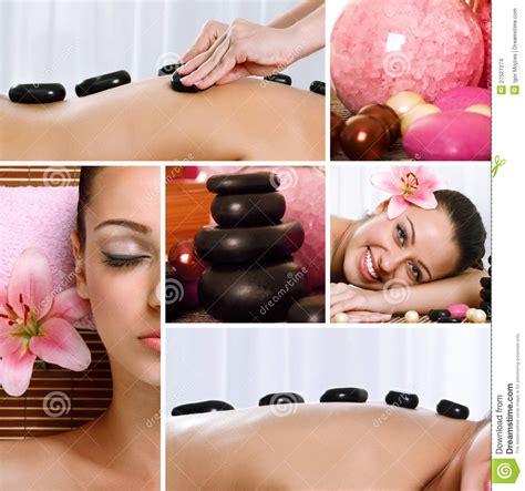 imagenes libres masajes collage de los tratamientos y de los masajes del balneario