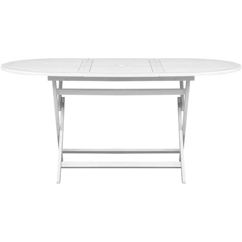 White Outdoor Dining Table Vidaxl Outdoor Dining Table White Acacia Wood Oval Www Vidaxl Au
