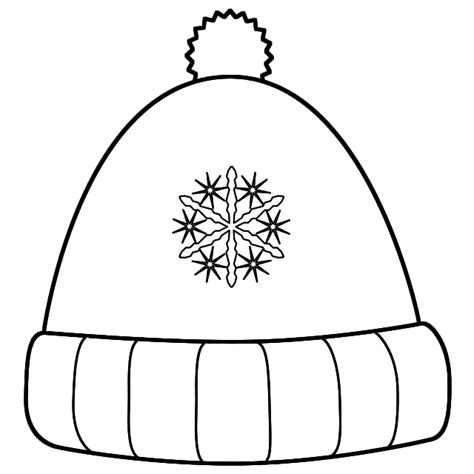 coloring page for hat winter hat coloring page timeless miracle com