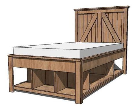 ana white storage bed ana white plans build a brookstone twin storage bed like