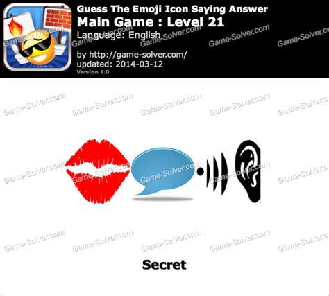 emoji quiz level 21 emoji icon main game level 21 game solver