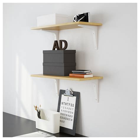 ekby laiva shelf birch effect 24x59 cm ikea