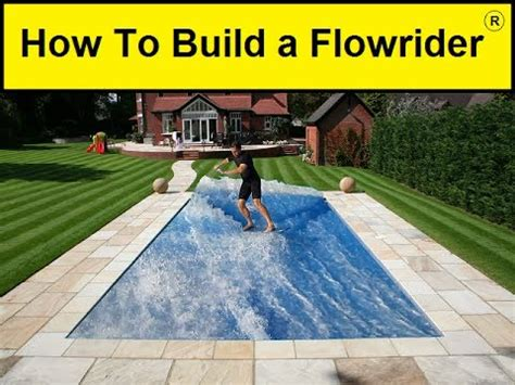 backyard flowrider how to build a flowrider youtube